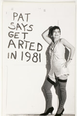 Pat Larter in a still from Get Arted, in 1981.