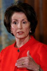 Nancy Pelosi when Speaker designate in 2006.