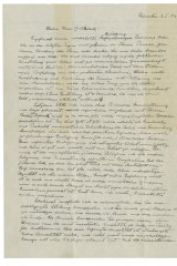 """The first page of Albert Einstein's """"God Letter,"""" dated January 3, 1954."""
