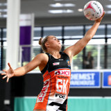 Matilda McDonell has been juggling study and living in the Super Netball hub.