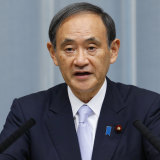 """Not true"": Chief Cabinet Secretary Yoshihide Suga."