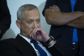 Benny Gantz's Blue and White party has one more seat than Likud.