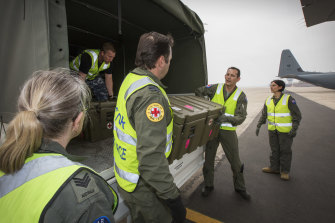 RAF's Aeromedical Evacuation Squadron will return burns victims to Australia where they face a long path to recovery.
