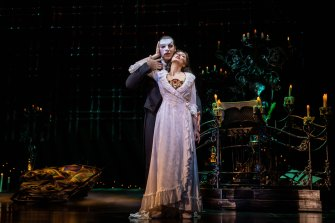 Australian Claire Lyon in The Phantom of the Opera in Seoul.