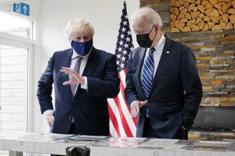 US President Joe Biden and British Prime Minister Boris Johnson ahead of the G7 summit.