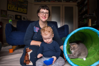 Katherine Williams, pictured with son Lincoln, had to undergo a police check before being deemed suitable to have IVF.