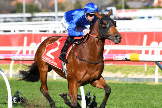 Bivouac charged away with the Vain Stakes at Caulfield to start his spring.