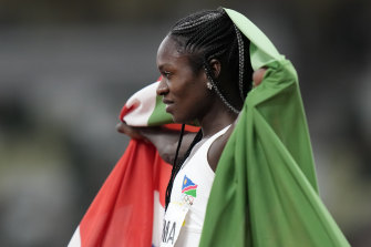 Mboma has been banned from the 400 metres.