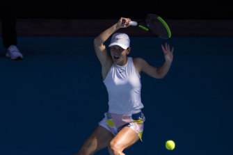 World No.2 Simona Halep during the Australian Open earlier this year.