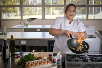 Elaya Carbone studied commercial cookery as part of her year 12 studies and is pursuing a career as a chef.