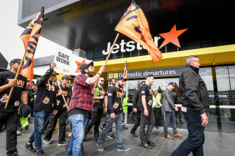 Jetstar ground crew workers have walked off the job twice in the past two weeks.