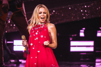 Dancing queen Kylie Minogue at Melbourne's Myer Music Bowl last year.