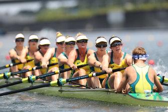Australia's women's eight.