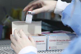 Australia has contracts for 280 million COVID-19 vaccine doses, including 25 million doses of the Moderna mRNA vaccine.
