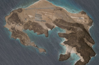 A mysterious air base is being built on Yemen's volcanic Mayun Island. No nation has claimed it.