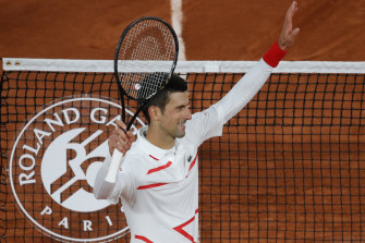 Novak Djokovic 's biggest concern in his win was the rain.