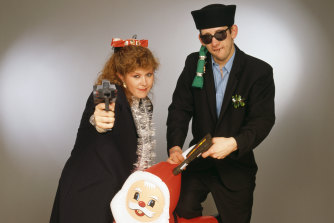 Kirsty MacColl and Shane MacGowan celebrate Christmas in their own inimitable style for Fairytale of New York.