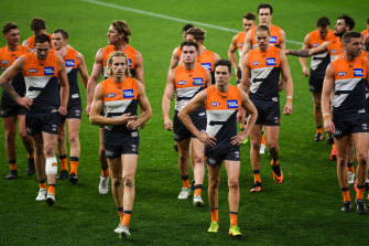GWS could miss finals after making the grand final last year.