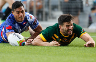 Scoring a try for the Kangaroos at the end of 2014, the same year he ignored a huge deal with Canberra.