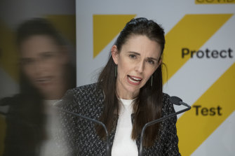 Prime Minister Jacinda Ardern delivers her map our of lockdown on Monday.