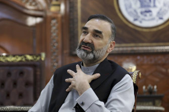 Atta Mohammad Noor, chief of Jamiat-e-Islami and a powerful northern warlord, pictured in July.