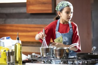 Junior MasterChef contestant Georgia, 11, borrows cookbooks instead of novels from her local library.