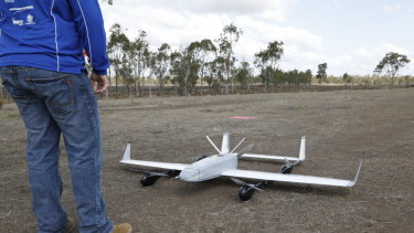 A long-range drone about to be put through its paces at the 2018 UAV Challenge in Dalby