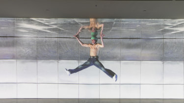 A still from Gladwell's single channel digital video Pataphysical Man, 2005.