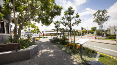 Previous improvements to a shopping strip at Alderley, funded by the Brisbane City Council.
