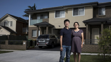 Johnson and Grace Lee, who are part of the Virtual Power Plant Program, at their home in Riverwood, Sydney.