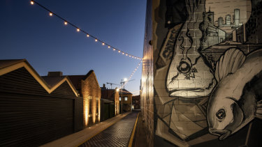 Fish Lane street art will be on show as part of the Brisbane Art Design festival.