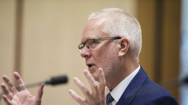 Former ABC chairman Justin Milne.