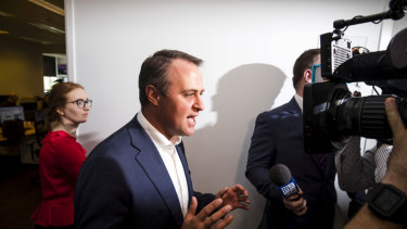 Tim Wilson in Parliament House on Monday.
