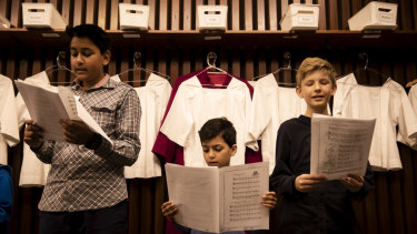 St Mary's Cathedral's Chorister for a Day program provides an opportunity for young boys to experience life in the cathedral's choir.