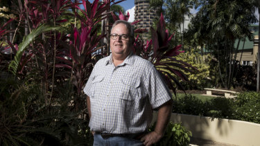 Former Liberal MP Ewen Jones in Townsville on Friday.