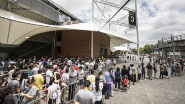 The crowds flocked to the Sydney Olympic Park on Sunday for the selective schools practice test.