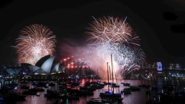 The 9pm fireworks on New Year's Eve in Sydney.