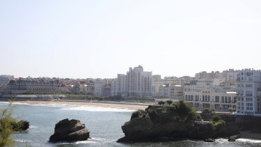 A normally bustling beach is empty as it falls inside the restricted area as security is stepped-up ahead of the G7 summit in Biarritz,.