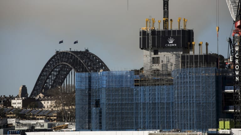 The Crown casino under construction at Barangaroo