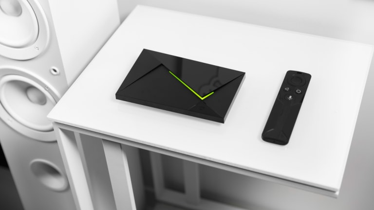The Shield TV is tiny and powerful, and looks a bit like spy gear.