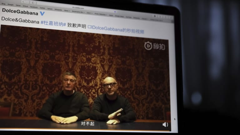 Dolce & Gabbana's Domenico Dolce (left) and Stefano Gabbana had to apologise in a video on Chinese social media after a series of allegedly racist video ads.