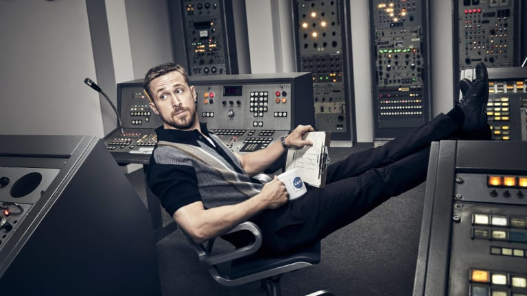 Ryan Gosling plays astronaut Neil Armstrong in First Man.