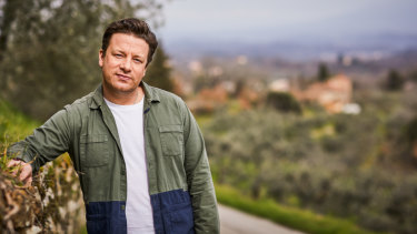 Jamie Oliver in Tuscany before the release of his new book Jamie Cooks Italy.