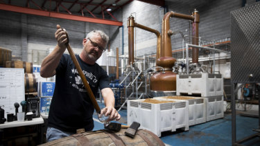 David Whittaker, the chief executive of the Manly Spirits Co. Distillery, said more tax is levied on spirits than beer and wine.