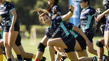 Winger Lori Cramer is excited to get out on the field in Perth on Saturday.