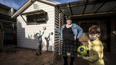 Fiona Sives says the family's new house is bigger and better, as well as cheaper.
