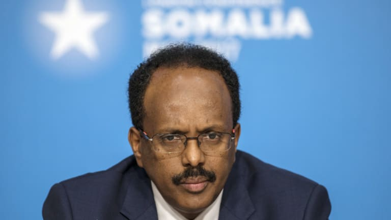 Somalia's President Mohamed Abdullahi Mohamed, pictured at the London Somalia Conference in London in May.