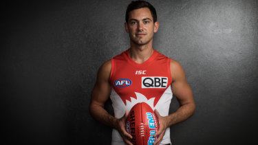 Long road: Dan Menzel will play his first game for Sydney against his old club, Geelong.