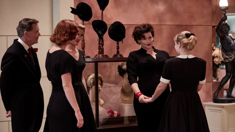 Julia Ormond and the cast of Ladies in Black.