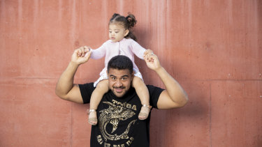 Vunipola's daughter Elenoa is the inspiration for his Super Rugby career.